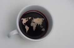The world in a cup of coffee. #maps
