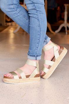 f92e02985 Mesa Ankle Wrap Flatform Espadrille Sandals  Gold . TFL