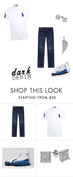 """Untitled #227"" by aries25 ❤ liked on Polyvore featuring True Religion, Polo Ralph Lauren, NIKE, men's fashion, menswear, darkdenim and menswearessential"