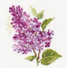 Counted Cross Stitch Kit Alisa - Sprig Of Lilac