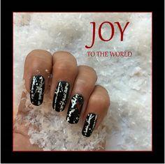 Fun holiday themed DIY nail art!!