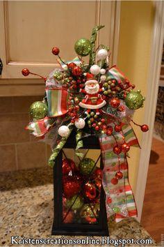 Christmas Lantern with santa!!! Bebe'!!! Really cute holiday decorative lantern with a Santa!!!