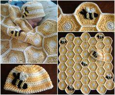 Sweet As Honey Crochet   Blankethttp://snip.ly/Sx4A#http://thewhoot.com.au/whoot-news/crafty-corner/sweet-as-honey-crochet-set