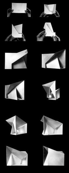 Folding studies Chapel in Villeaceron / S.M.A.O. Architect: Sancho-Madridejos Architecture Office