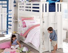 I love the Pottery Barn Kids Owen & Cassidy Shared Space on potterybarnkids.com