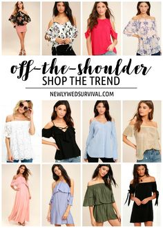 Great finds here! Off-the-Shoulder Trendy Pieces You Need in Your Closet via @newlywedsurvive
