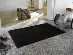Black Floor Mat |  Floor Mats | Studio 67 Floor Mats | Non-Skid Floor Mats | Solid Color Floor Mats | Black Floor Mats for the Home
