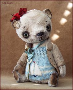by Alla Bears Original artist OOAK Vintage Antique by AllaBears