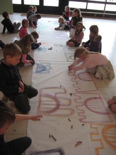Schrijfdans: Kasteel (rechten en hoeken - boog)