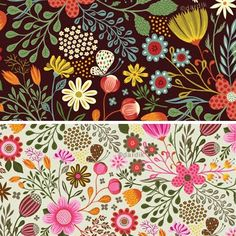 orange you lucky!: strong florals . . . Illustrations by Helen Dardik