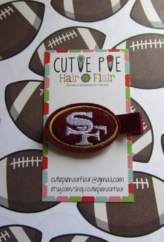 Hey, I found this really awesome Etsy listing at http://www.etsy.com/listing/122371150/san-francisco-49ers-clip