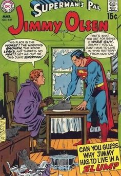 Superman's Pal: Jimmy Olsen Vintage Comic Book Cover. How innocent it was back in the day