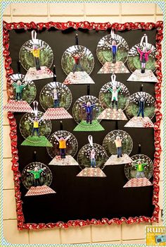 Snow globe bulletin board