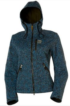 66 North Woman`s Vindur style Windstop jacket in Blue Melange color