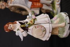 Pareja de porcelana, bucólicamente maravillosa, final del XIX