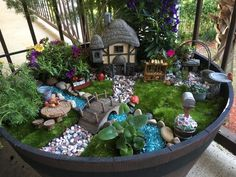 34 Lovely Fairy Garden Designs Ideas - If you want to create an enchanted space then one great way to achieve this is to make a fairy garden. Whether designing for old or young, an enchante.