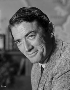 Gregory Peck Classic Close Up Portrait Premium Art Print