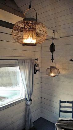 Fishing cottage interior. Nordic style interior.