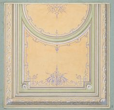 Design for the painted decoration of a ceiling Poster Print by Jules-Edmond-Charles Lachaise (French, died x Ceiling Art, Ceiling Design, Vintage Wall Art, Vintage Walls, Arabesque, Deco Paint, Classic Ceiling, Ceiling Detail, Grisaille