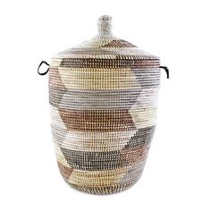 Woven African Laundry Clothes Hamper - Desert Dusk - Large