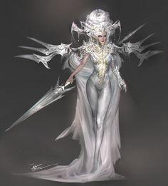 White Xmas tree by jeremy chong Female Character Design, Character Design Inspiration, Character Concept, Character Art, Concept Art, Fantasy Art Women, Beautiful Fantasy Art, Fantasy Girl, Fantasy Characters