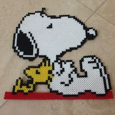 Snoopy and Woodstock perler beads by k_casserly