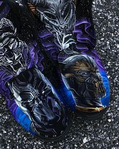 Black Panther custom Timbs by @ultamiciti made with #JacquardPaints