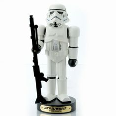 """Check out this Storm Trooper nutcracker... Then, remember when the Storm Trooper got served by Obi-wan?  """"These aren't the droids you're looking for."""""""