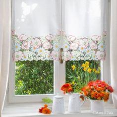 Pizzi E Ricami Tende.118 Fantastiche Immagini Su Tende Nel 2019 Embroidery Lace E Blinds