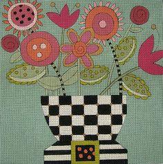 McKenzie - Hand Painted Needlepoint Canvas