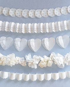 doily bunting ideas