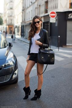 Love the shoes with the shorts!