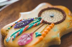 Darling Dream Catcher Cookies from this Dream Catcher Craft Night Party with So Many Fun Ideas via Kara's Party Ideas | KarasPartyIdeas.com #dreamcatcher #craftnight #ladiesnight #...