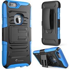 Amazon.com: iPhone 6s Plus Case,i-Blason Prime [Kickstand] Apple iPhone 6 Plus Case (5.5) [Heavy Duty] [Dual Layer] Combo Holster Cover [Belt Clip] (Black): Cell Phones & Accessories