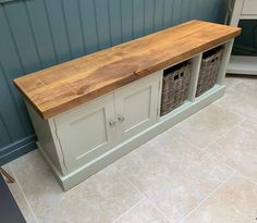 Farrow & Ball Painted Shoe Bench Cupboard with 2 x Baskets *Hallway Boot Room Entrance Porch Shoe Storage Rack by RawFurnitureUK on Etsy Shoe Bench, Bench With Shoe Storage, Porch Storage Bench, Farrow And Ball Paint, Farrow Ball, Shoe Storage Coat Rack, Shoe Racks, Raw Furniture, Furniture Makeover