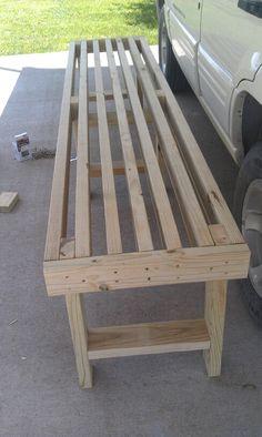 Easy 10 2x4 bench