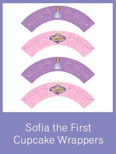 Sofia the First Cupcake Wrappers - FREE PDF Download