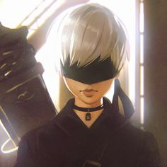 "kuvshinov-ilya: "" NieR:Automata's 2B fan art! https://www.patreon.com/posts/3783590 "" Short Nier:Automata's 9S fan art! Normal size here: https://www.patreon.com/posts/5173700"