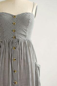 Vintage Inspired Dresses / Feminine Gingham Sundress / Emmylou Dress