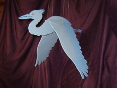 Blue Heron Wooden Flying Mobile от WoodyRobcrafts на Etsy