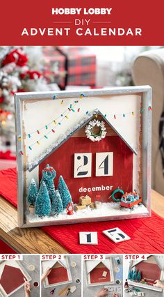 Count down the days until Christmas with a custom wintry calendar! Christmas Projects, Christmas Holidays, Christmas Ideas, Merry Christmas, Christmas Decorations, Advent Calenders, Diy Advent Calendar, Diy Projects Videos, Fun Projects