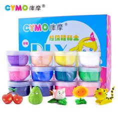 12 colors plasticine and tool kit polymer clay fimo cernit clay performance 25g/color premo space colored clay