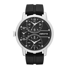 We love the new:  Claiborne® Mens ...    Check it out here! http://www.musthaveshoesandmore.com/products/claiborne-mens-oversized-dial-black-silicone-strap-watch?utm_campaign=social_autopilot&utm_source=pin&utm_medium=pin