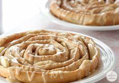 Spiral Apple Bread with Caramel Apple Glaze - mmmm!!