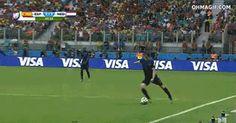 Robin Van Persie Epic Header Vs Spain- it's his hair!!!