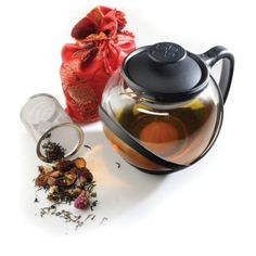 Wal-Mart.com USA LLC  Primula Teas Of The World Tea Set  1.25 Quart Teapot Infuser  Borosilicate Glass Stainless Steel Infuser Plastic (ptw2304dst)