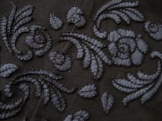 Little Pieces of Me - Detail of Alabama Chanin inspired skirt. Hand sewn applique.