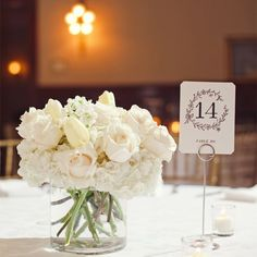 Small all white centerpiece