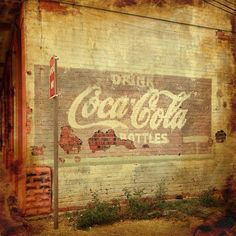 Coca-Cola ghost sign in downtown Rosenberg, Texas. by mollyblock, via Flickr