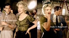 "My Colorized Marilyn with Milton Greene on the ""Bus Stop"" set in 1956! Enjoy!"